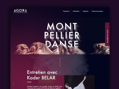 Agora Webdesign dance danse website webdesign