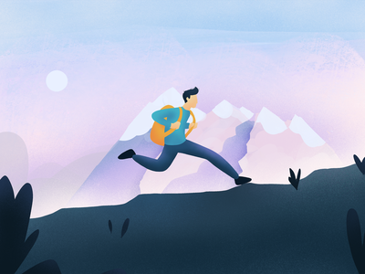 Journey Illustration journey guy running illustration