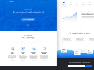 Business Landing peru high end business web landing material design material