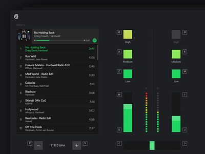 Playlist Mixer for Spotify ux playlist turntable prototype product widgets sound mixer spotify