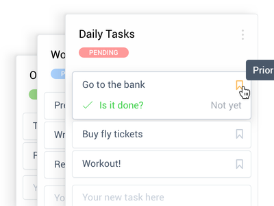 Dashboard Cards doable ux forms chores list todo tasks clean scrum card dashboard