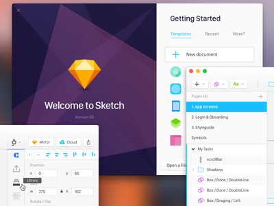 Re-designing Sketch white clean welcome screen welcome craft ux ui software redesigning redesign sketch app sketch