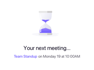 Meetboard after login message meetings landing waiting clock
