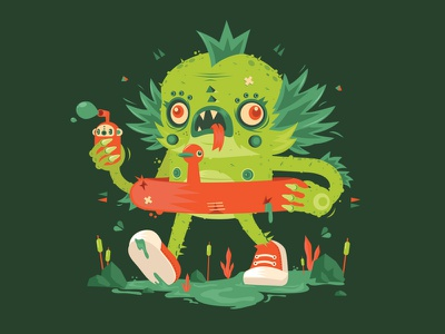 Creature of the Green lagoon.