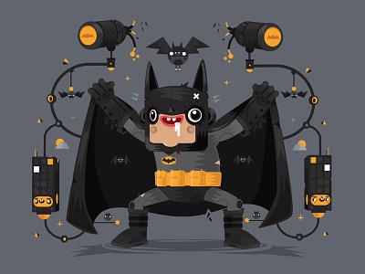 The not so Dark Knight funny illustration bat batman