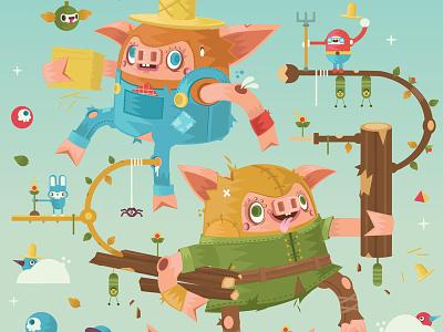 3 little freak pigs pigs