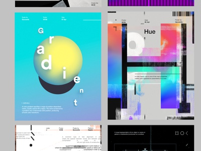 Poster F to K typeart type kerning goldenratio icon hue gradient poster illustration