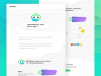 Landing page for a chatbot