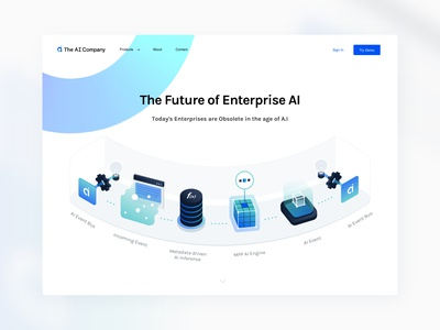 Ai Company - Illustration & Our Technology Page