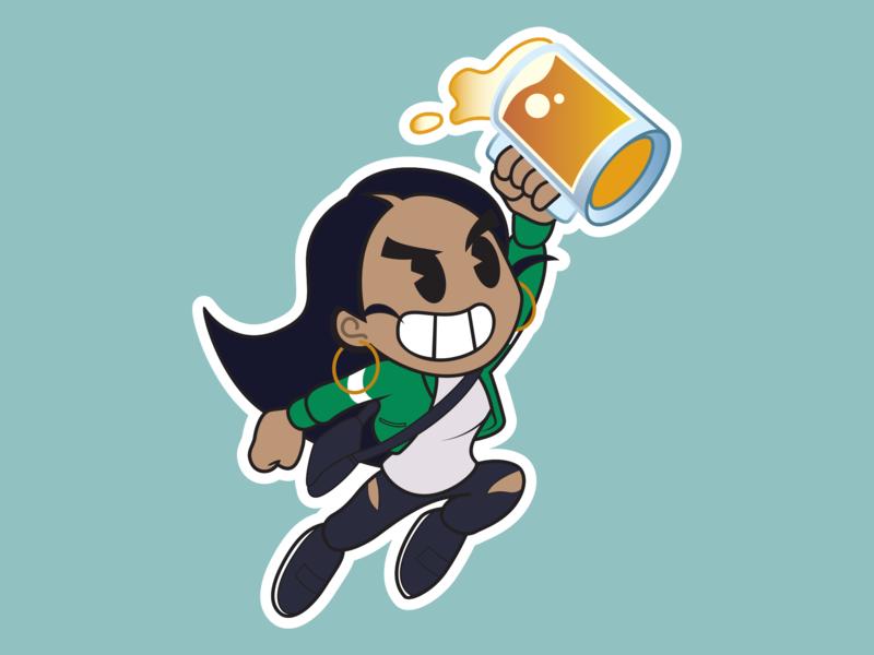 Beerica vector art sticker illustration vector beer
