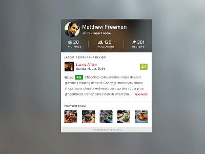 User Widget user widget profile widget user profile zomato