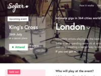 Sofar Sounds / London events — part #1