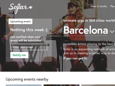 Sofar Sounds / Barcelona events — part #1