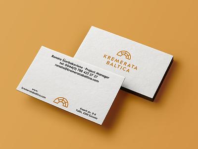 Kremerata Business Cards kremerata baltica geometric classic music print business card identity stationery branding