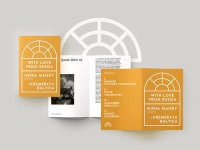 Kremerata Booklet stationery print logo design music identity branding