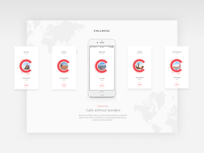 Callocal Landing page