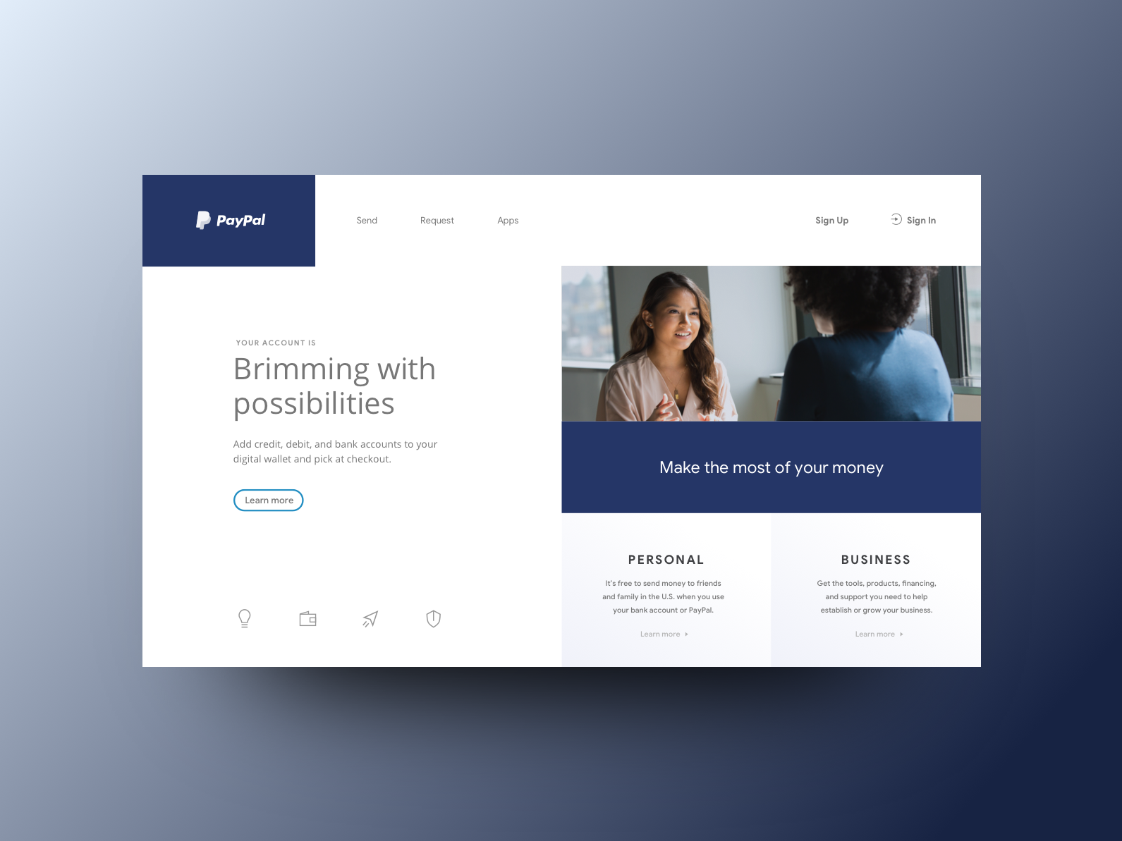 PayPal — 3 of 3 by Sara Sodano on Dribbble