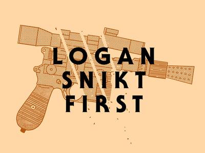 Logan Snikt First lineart type blaster star wars wolverine