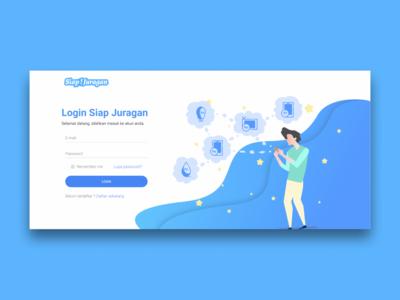 Siap Juragan Login page