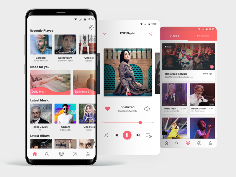 Music player app android app design ios design live music music player ui music player music android ux design ui design app design app ui