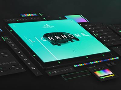 Lions Home adaptive app magazine online shop graphic design photoshop uiux mockup web design