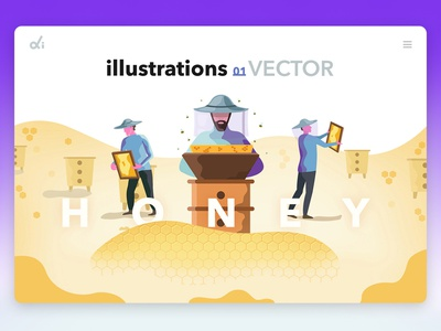 Illustrations Honey flat vektor logo art web design web photoshop vector design illustration brands
