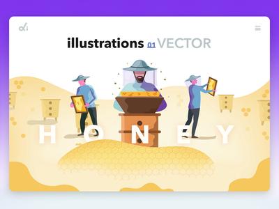 Illustrations Honey
