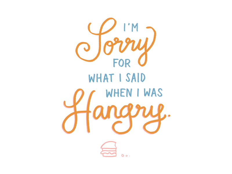 I'm sorry for what I said when I was hangry hangry sorry hamburger cheeseburger lettering hand lettering cintiq