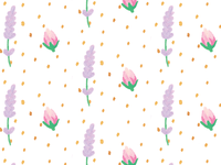Rose Lavender Pattern
