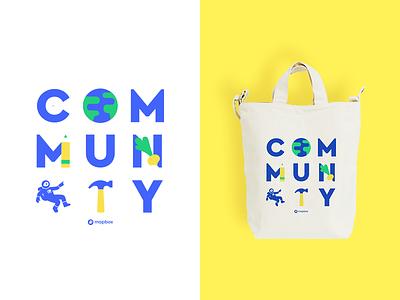Community Tote mapbox tote illustration community
