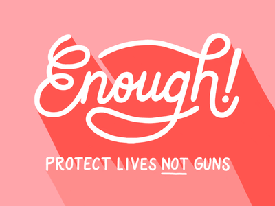 Enough change social poster sign protest procreate lettering enough