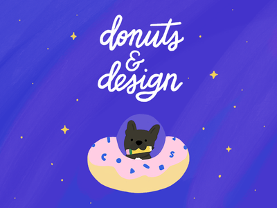 Donuts And Design procreate donuts and design mapbbox lettering illustration french bulldog frenchie space donut
