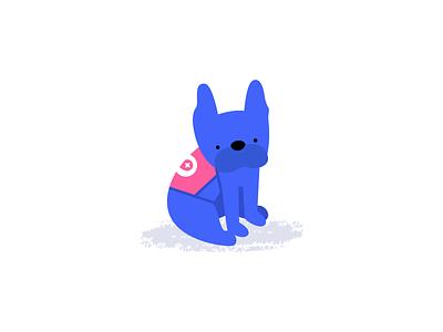 Boba french bulldog frenchie illustration mapbox