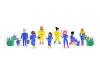 Illustrations for Mapbox's diversity and inclusion page