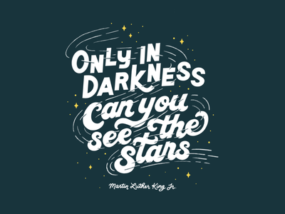 Martin Luther King Jr. procreate hand lettering lettering