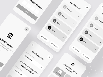 Mobile Banking with VIVR Technology  |  Wireframe ux card online finance finetech rocket bkash personal finance money bank app neo design mobile design ux deliveries wireframe vivr banking app financial finane bank mobile banking