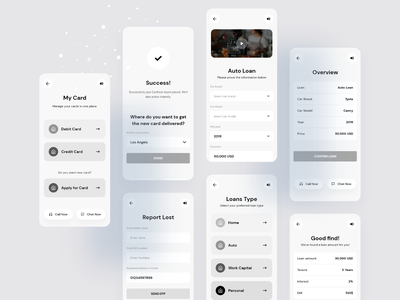 Mobile Banking with VIVR Technology | Wireframe wireframe mobile design ui ux user research financial finance bkash rocket fintech neo design money technology vivr application loan app bank app banking bank