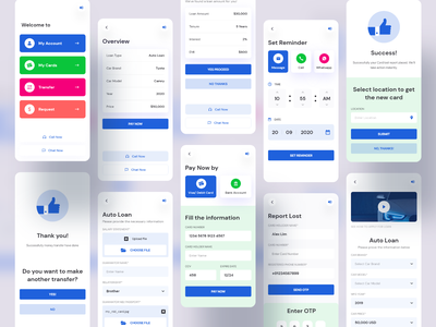 All in one Bank Solution account savings app homepage landing page auto home payment design mobile application loan transfer banking card ivr ux ui bank app bank