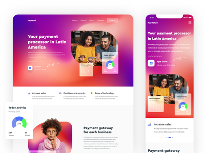 Fintech Landing page Exploration branding ux ui design homepage saas landing page redesign financial payments digital banking online banking website product payment finance