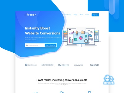 Redesign Project web creative illustration gradian homepage simple product design ui minimalist landing page website redesign