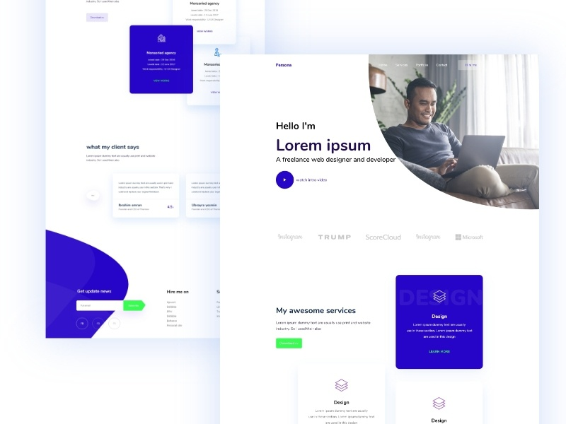 Personal portfolio design   dribbble   2