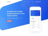 Bitcoin payment landing page