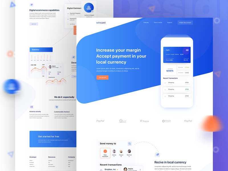 App Landing Page payment ico bitcoin webdesign ui agency homepage website landing design branding app