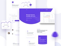 Saas product landing page