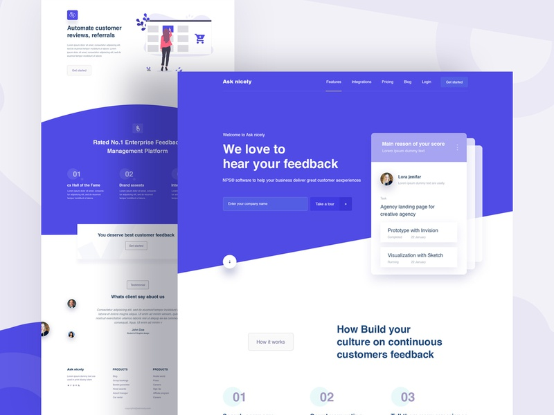 Landing page design team page newsletter page service page about us landing page website popular app 2019 design trend web template subscribe newsletter contact us feedback homepage app landing page