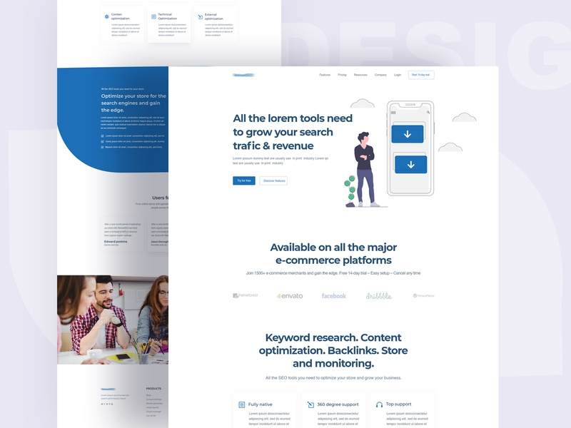 Seo landing page pricing page newslatter blog contact us page service page homepage web template about us page business icon app landing page digital agency landing page agency