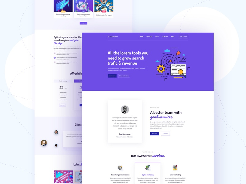 Homepage design popular design interface ui website testimonial service page newslatter contact us page about us page digital agency app landing page live site logo design homepage landing page