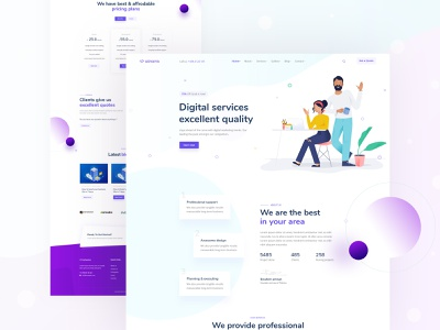 Agency Homepage agency landing page app landing page landing  page seo digital agency blog page pricing plan page contact page about us page minimal illustration homepage popular landing page