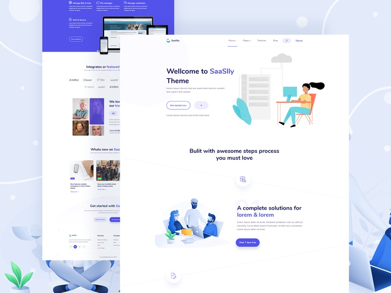 Modern SaaS landing page design newsletter about us feedback website design mimimal design dribbble best shot contact us page blog page team page pricing page creative agency digital agency saas landing page app landing page saas design modern