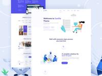 Modern SaaS landing page design